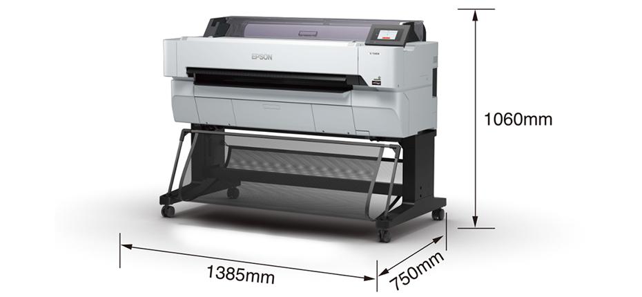 大幅面彩色喷墨打印机Epson-SureColor-T5480M产品尺寸图